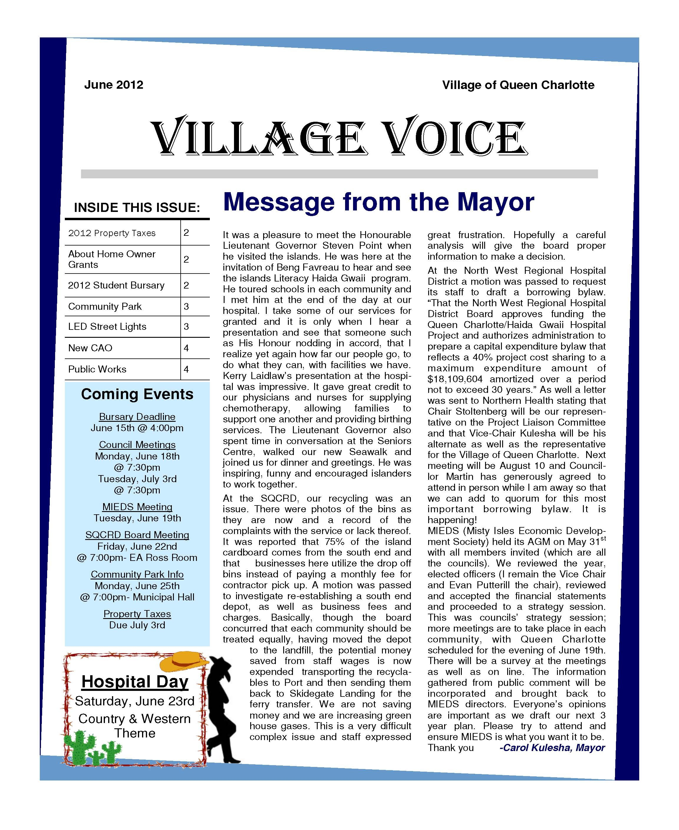 village voice newletter